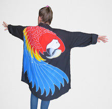 Scarlet macaw parrot hand-painted batik jacket