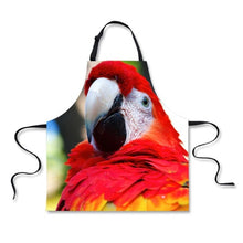 Scarlet macaw kitchen apron
