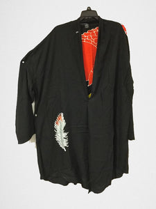 I Love My Scarlet Macaw!  Hand-painted Batik Jacket
