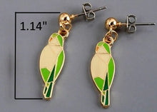 Geometric-style Quaker Enamel Earrings