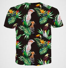 Tropical birds t-shirt - parrots, toucans & more!