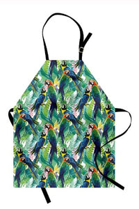 Tropical Macaws Kitchen Apron