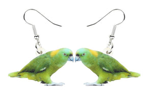 Yellow-naped Amazon Pierced Drop Earrings