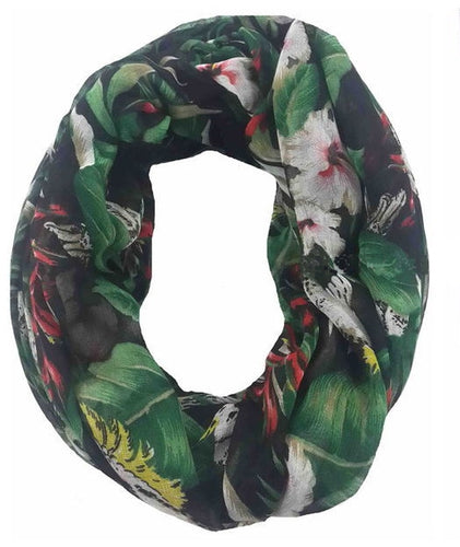 Sulfur crested cockatoo parrot infinity scarf -excellent gift item!