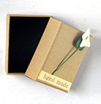 Gift box for the hand-crafted parrot drop earrings