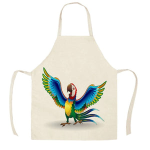 Cartoon Macaw Parrot Kitchen Apron