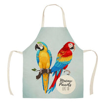 Blue & Gold and Scarlet Macaw Parrots Kitchen Apron