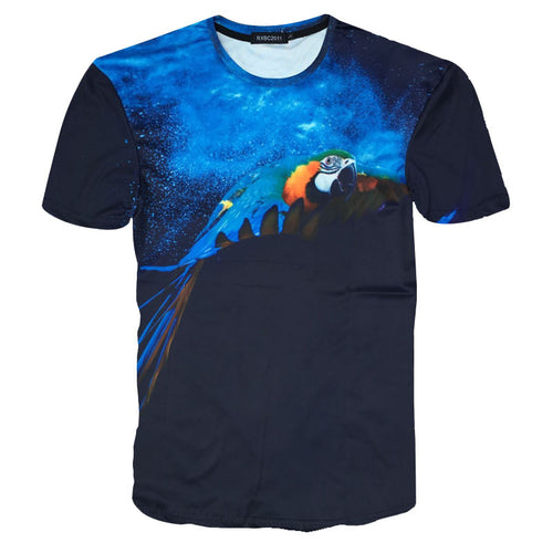 Flying Blue & Gold Macaw 3D Printed T-shirt