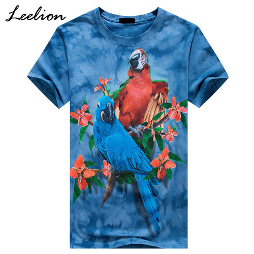2 Macaws 3D printed on a lovely t-shirt