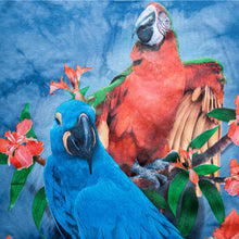 Hyacinth macaw and greenwing? macaw 3D printed on a t-shirt