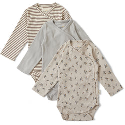 New Born Body Nuevo 3 Pack -  Petit Amour/Striped/Blue