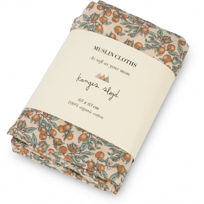 3 Pack Muslin Cloth - Orangery Beige