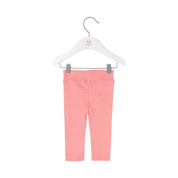Noa Noa miniature leggings m. hulmønster - Salmon Rose