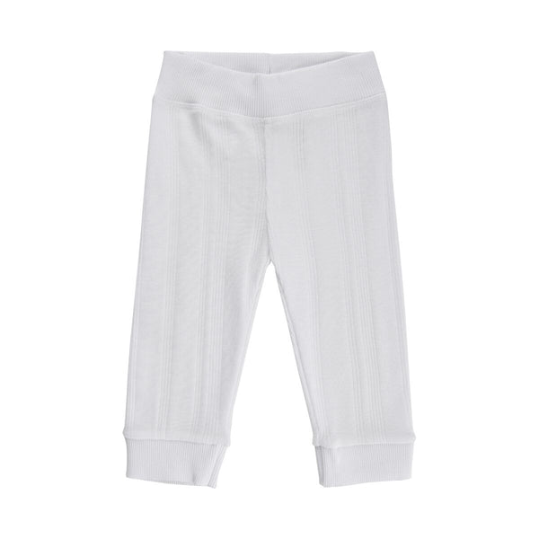 Noa Noa Miniature leggings i rib - White