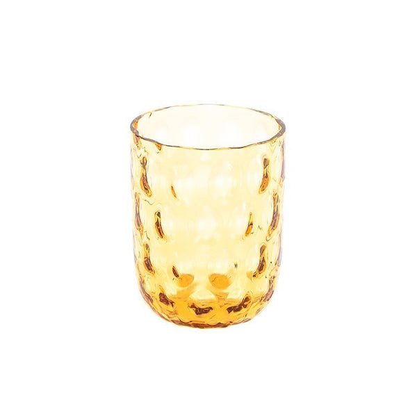 """Danish summer"" tumbler - Amber / big drops"