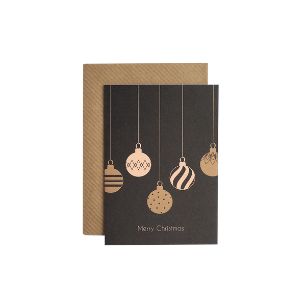 """Merry Christmas - ornaments"" A7 kort  Grand Stories Design"