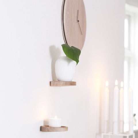 """Float shelf"" hylde - lys egetræ"
