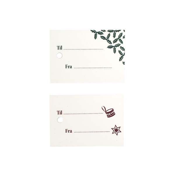 Gift tags - red & green  Grand Stories Design
