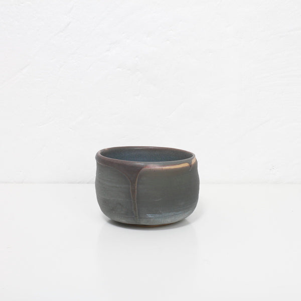 Unika pinch-pot skål (mørk/petroleum)
