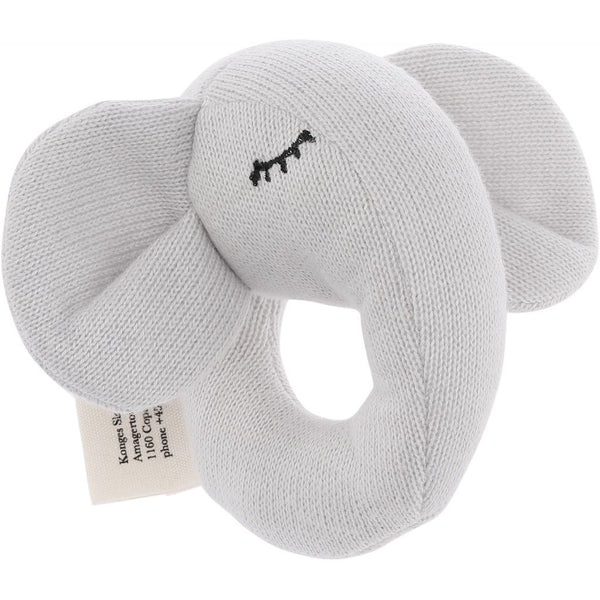 """Quro"" mini elefant-rangle (gråmeleret)"