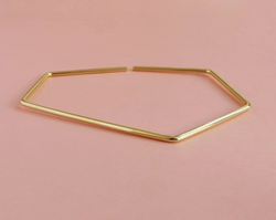"""Facet"" armring - guld"