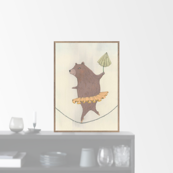 """Dancing Bear"" plakat (A4)"