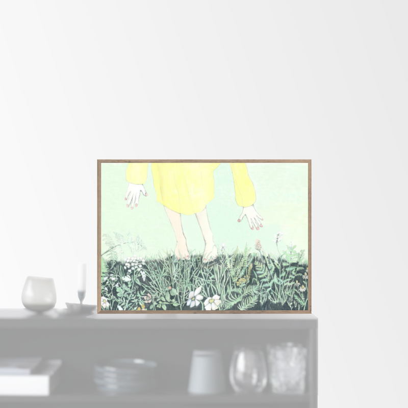 """Light green grass"" plakat (A4)"