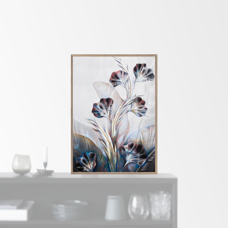 """Dark Poppies"" plakat (50x70cm)  Sofie Børsting"