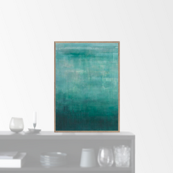 """Emerald Abstraction"" plakat (50x70cm)"