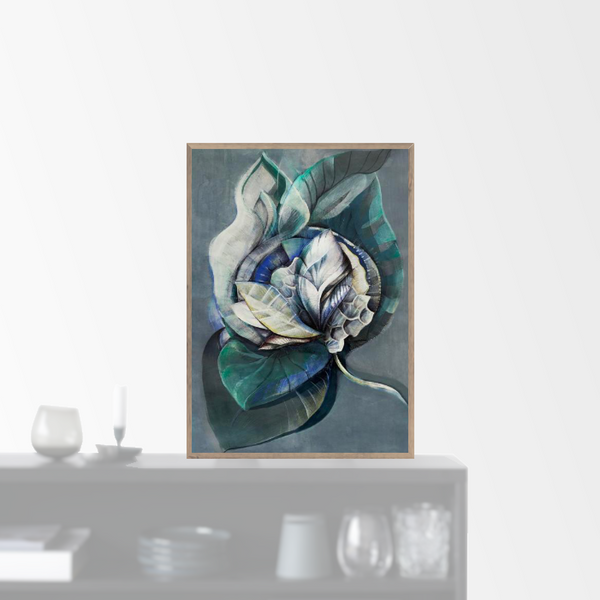 """Midnight Bloom"" plakat (50x70cm)  Sofie Børsting"