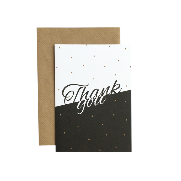 """Thank you"" A6 kort  Grand Stories Design"
