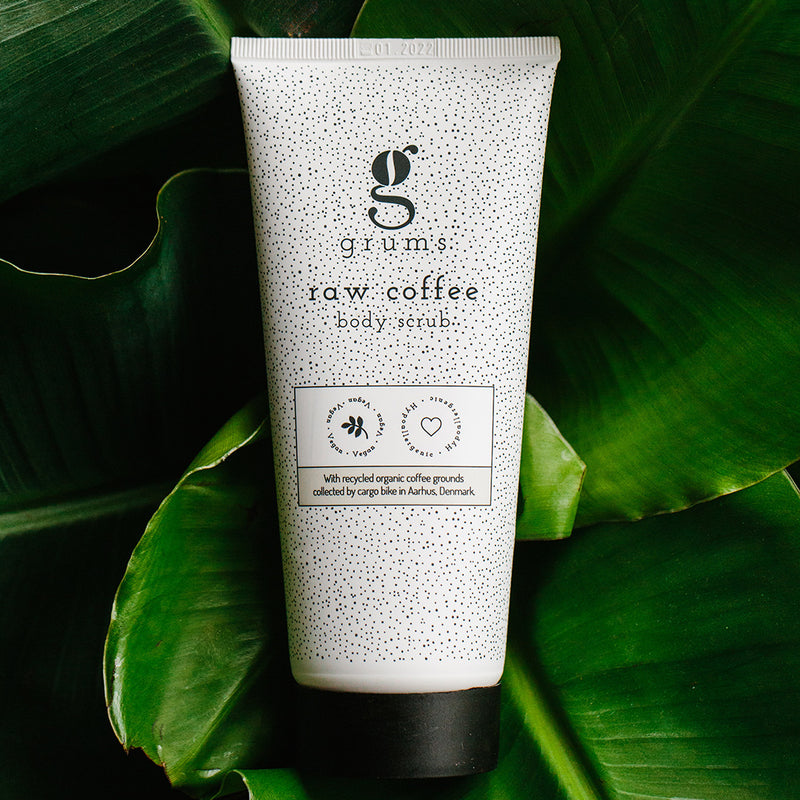 Raw coffee body scrub