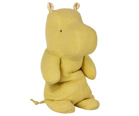 Safari friends, Hippo/Lime Yellow - medium bamse