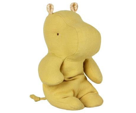 Safari friends - Lime Yellow Hippo, lille bamse