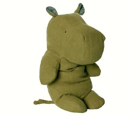 Safari friends, Hippo/Green - medium bamse