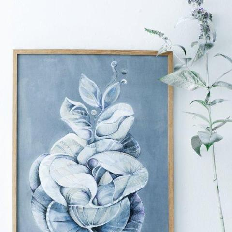 """Leaves of Grey"" plakat (50x70cm)"