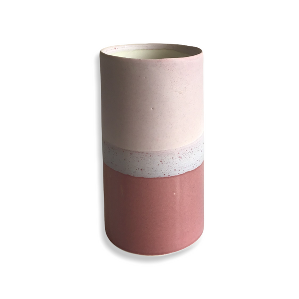 "Medium unika ""Sustainable""-vase (rosa)"