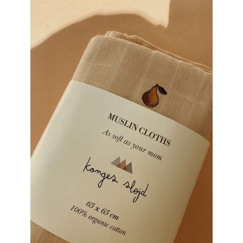 3 Pack Muslin Cloth - Poire