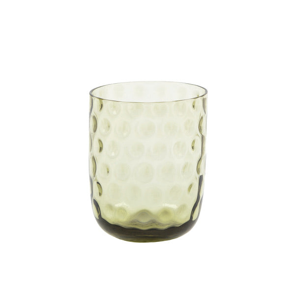 """Danish summer"" tumbler - Olive Green / small drops"
