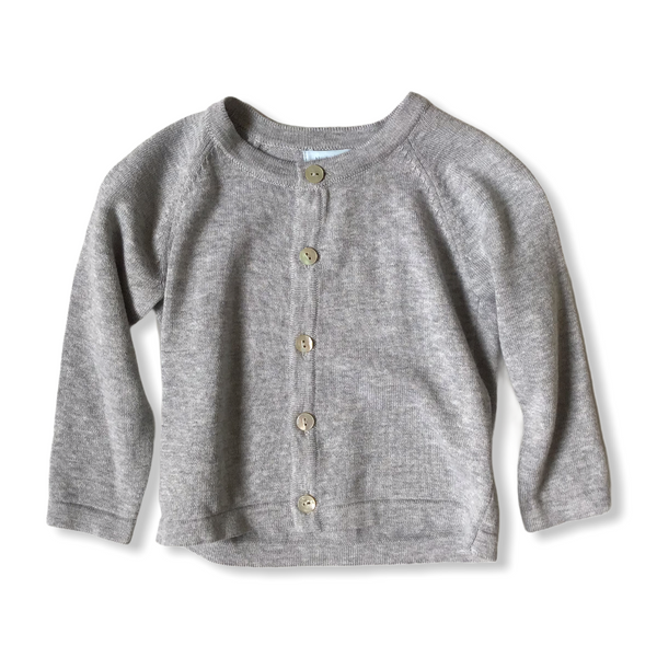 Noa Noa Miniature basic cardigan - Grey Melange
