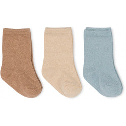 3 Pack Lurex Socks - strømper (Moonbeam)