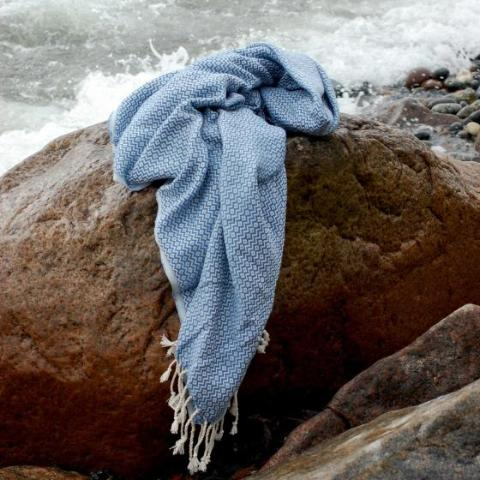 """Marseille"" towel - oceanblå  Time2bath"