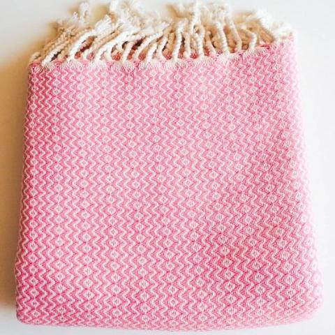 """Marseille"" towel - pink  Time2bath"