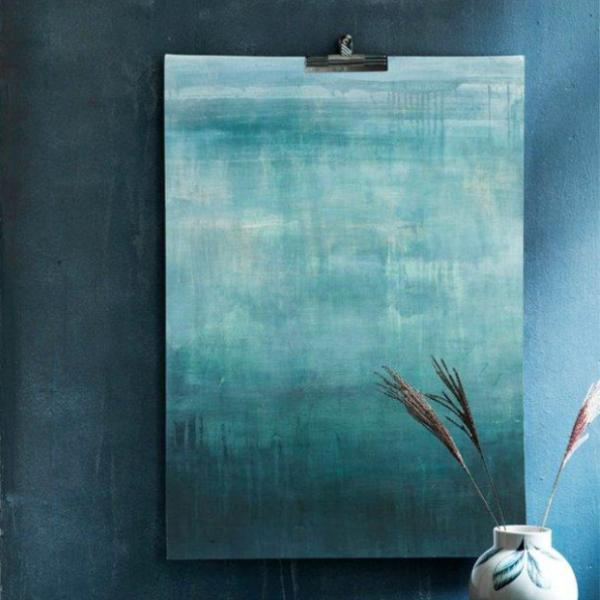 """Emerald Abstraction"" plakat (50x70cm)  Sofie Børsting"