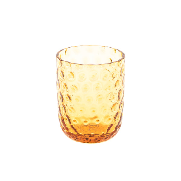 """Danish summer"" tumbler - Amber / small drops"