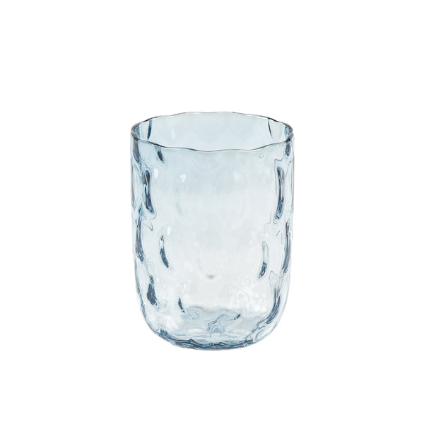 """Danish summer"" tumbler - Blue smoke / big drops"