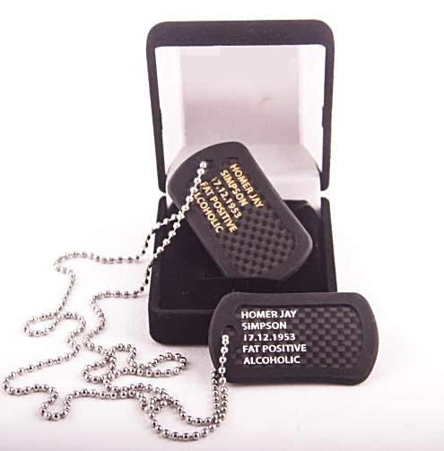 [Carbon dog tags] - VIP Dog Tags