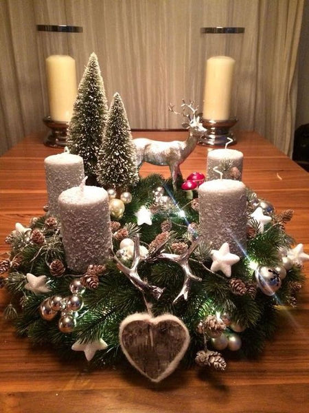 20+ Christmas Centerpiece Brown Candles