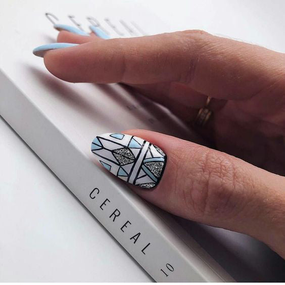 GEOMETRIC NAIL ART IDEAS