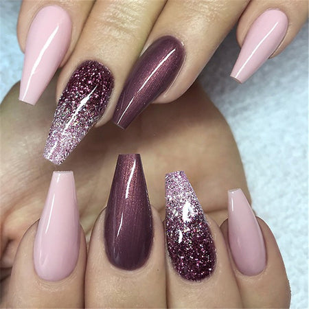 Ombre Design For Coffin Nails